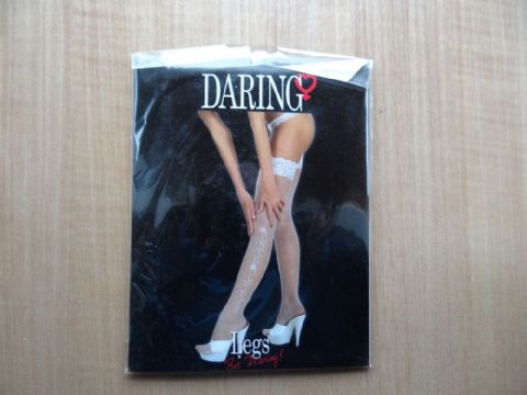 """DARING LEGS"" LACE TOP WITH PRINT STOCKINGS  SIZE:- ONE SIZE"